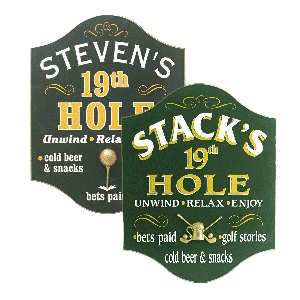 19th Hole Bar Signs