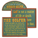 Framed Golf Signs